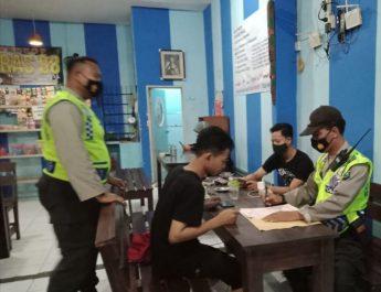 Polsek Magersari Laksanakan Kegiatan Operasi Yustisi Di Beberapa Warkop